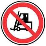Zákaz provozu – průjezdu motorových vozíků