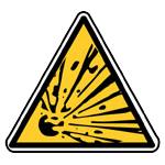 Výstraha, riziko exploze (výbuchu)