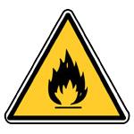 Výstraha, požárně nebezpečné látky